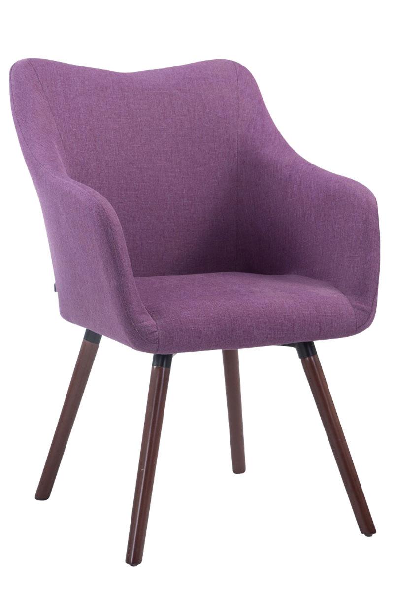 Besucherstuhl McCoy V2 Stoff-lila-Walnuss | Büro > Bürostühle und Sessel  > Besucherstühle | Timwood Experience