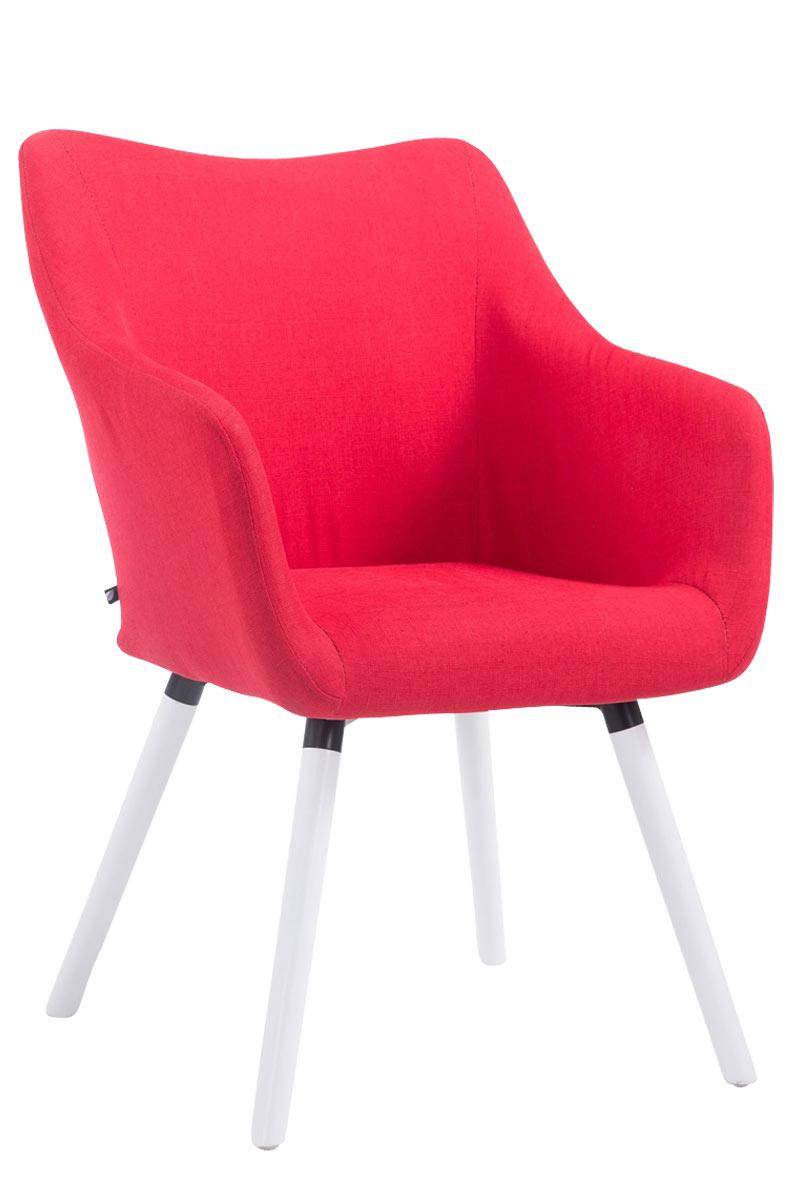 Besucherstuhl McCoy V2 Stoff-rot-Weiß | Büro > Bürostühle und Sessel  > Besucherstühle | Timwood Experience