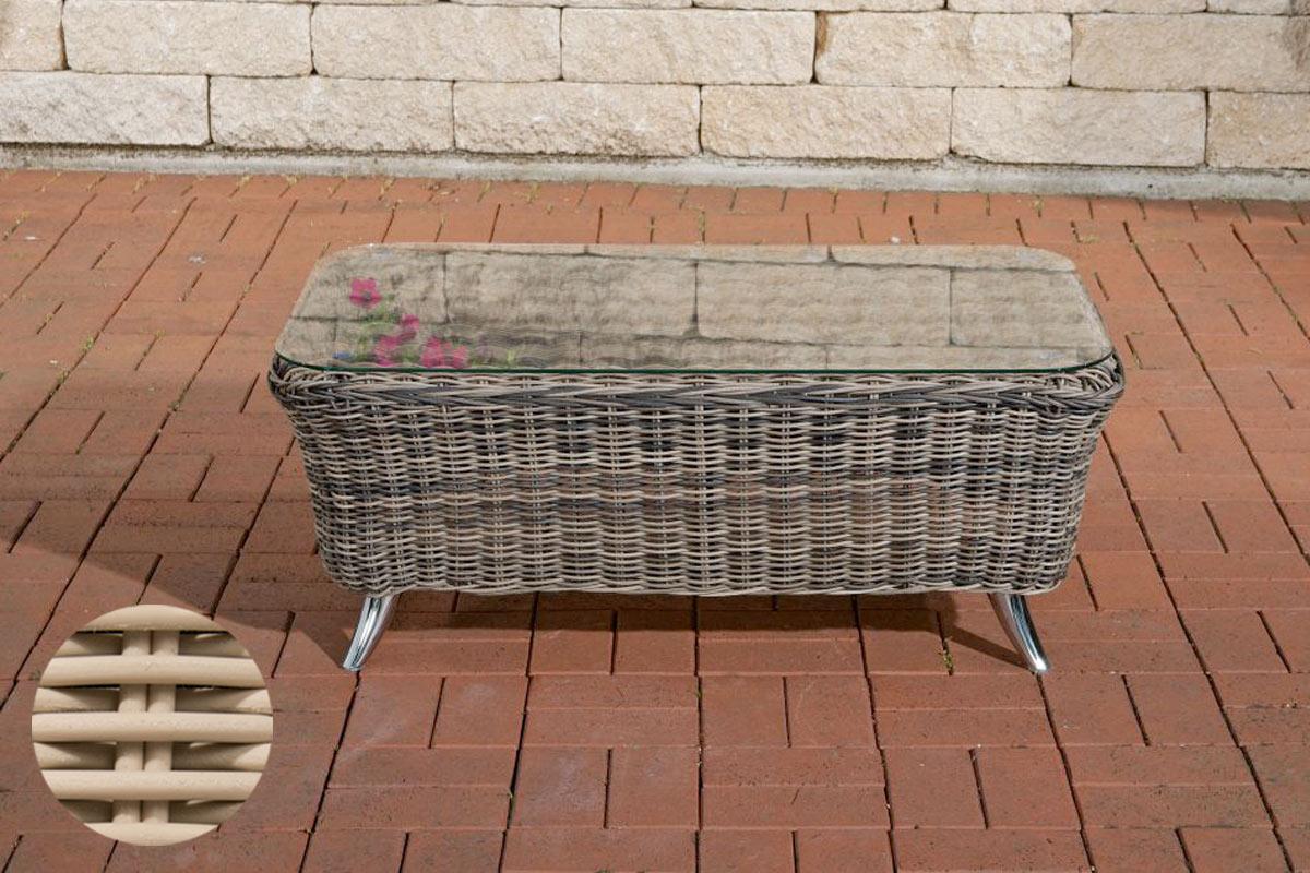 Glastisch Vivari 100 x 58 cm-rund/perlweiß | Wohnzimmer > Tische > Glastische | Loraville