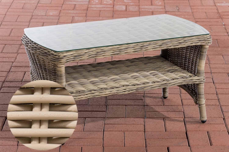 Glastisch Toledo 90 x 50 cm-rund/perlweiß | Wohnzimmer > Tische > Glastische | Loraville