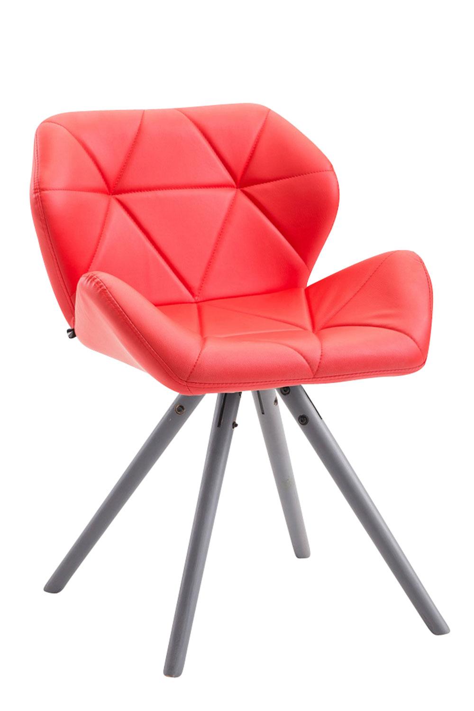 Besucherstuhl Tyler Kunstleder Rund-rot-Grau | Büro > Bürostühle und Sessel  > Besucherstühle | Timwood Experience