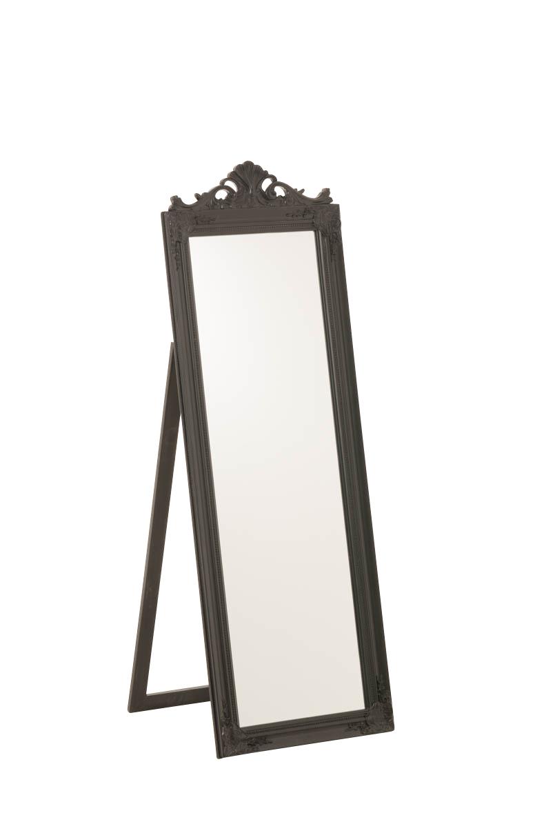 Spiegel Amalia-45x160 cm-schwarz | Flur & Diele > Spiegel | CLP