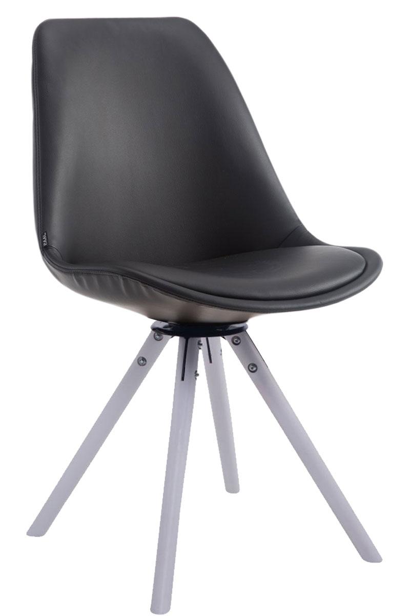 Besucherstuhl Calais Drehbar Rund-schwarz-Weiß (Eiche) | Büro > Bürostühle und Sessel  > Besucherstühle | PAAL Office Furniture