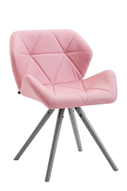 Besucherstuhl Tyler Kunstleder Rund-pink-Grau   Büro > Bürostühle und Sessel  > Besucherstühle   Timwood Experience