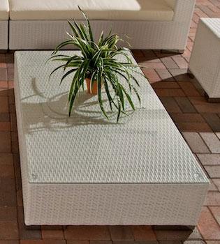 Glastisch Barcelona-weiß | Wohnzimmer > Tische > Glastische | Loraville