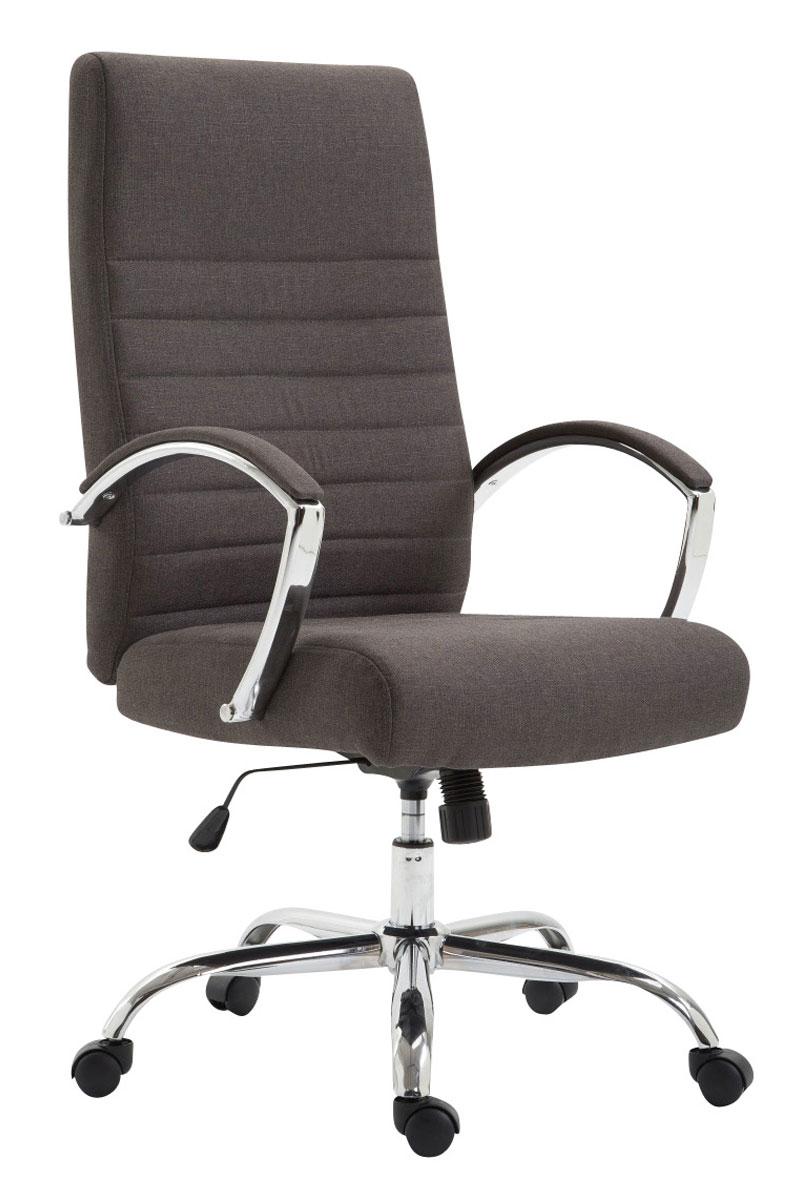 XL Bürostuhl belastbar 136kg Stoffbezug dunkelgrau Chefsessel Fußstütze modern