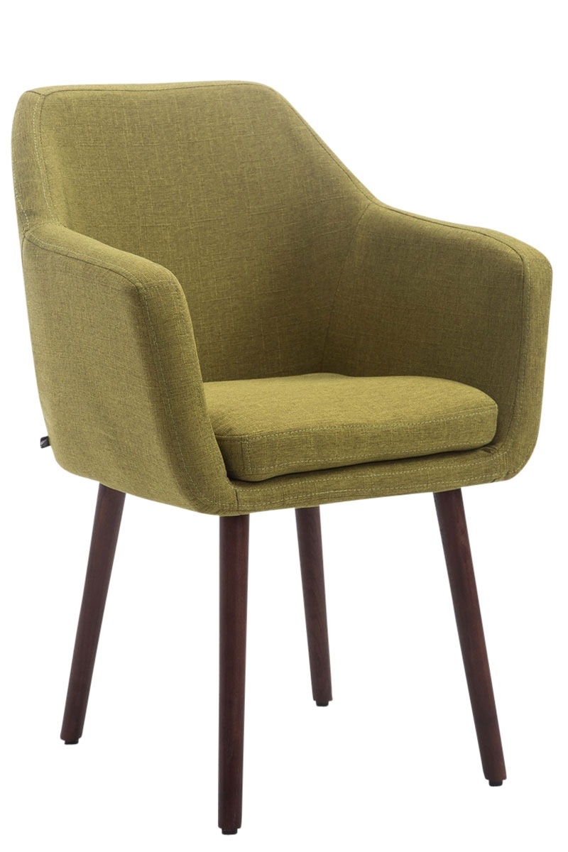 Besucherstuhl Utrecht Stoff-grün-Walnuss | Büro > Bürostühle und Sessel  > Besucherstühle | Timwood Experience