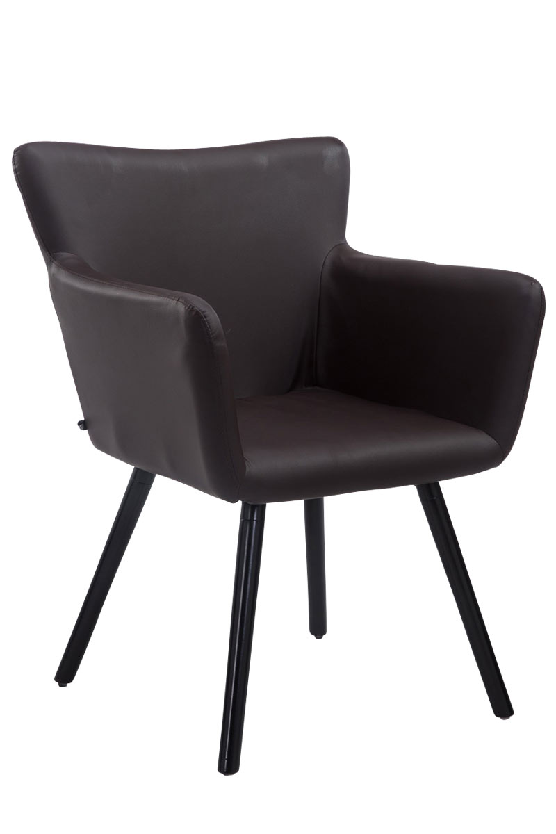 Besucherstuhl Antwerpen Kunstleder-braun-Schwarz | Büro > Bürostühle und Sessel  > Besucherstühle | Timwood Experience