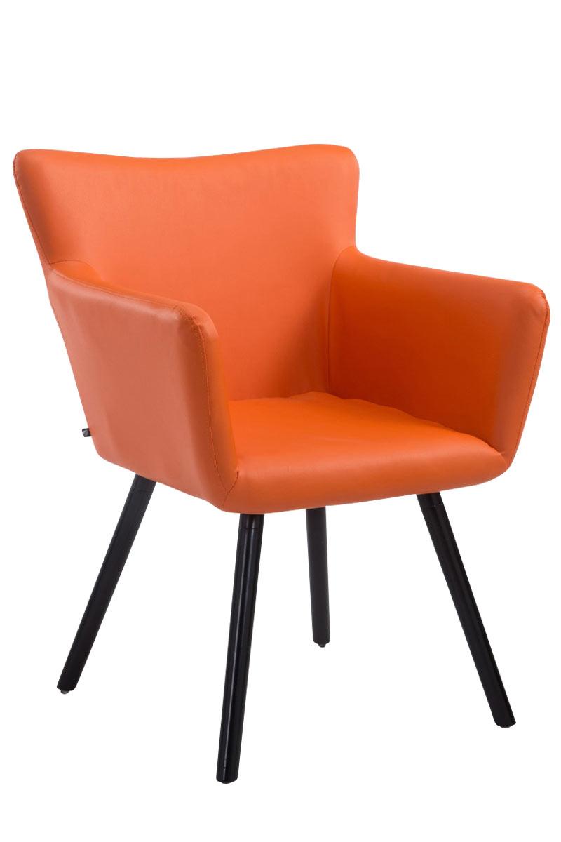 Besucherstuhl Antwerpen Kunstleder-orange-Schwarz | Büro > Bürostühle und Sessel  > Besucherstühle | Timwood Experience