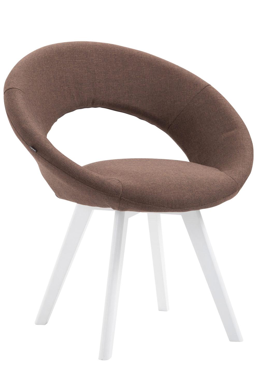 Besucherstuhl Beck Stoff-braun-Weiß | Büro > Bürostühle und Sessel  > Besucherstühle | PAAL Office Furniture