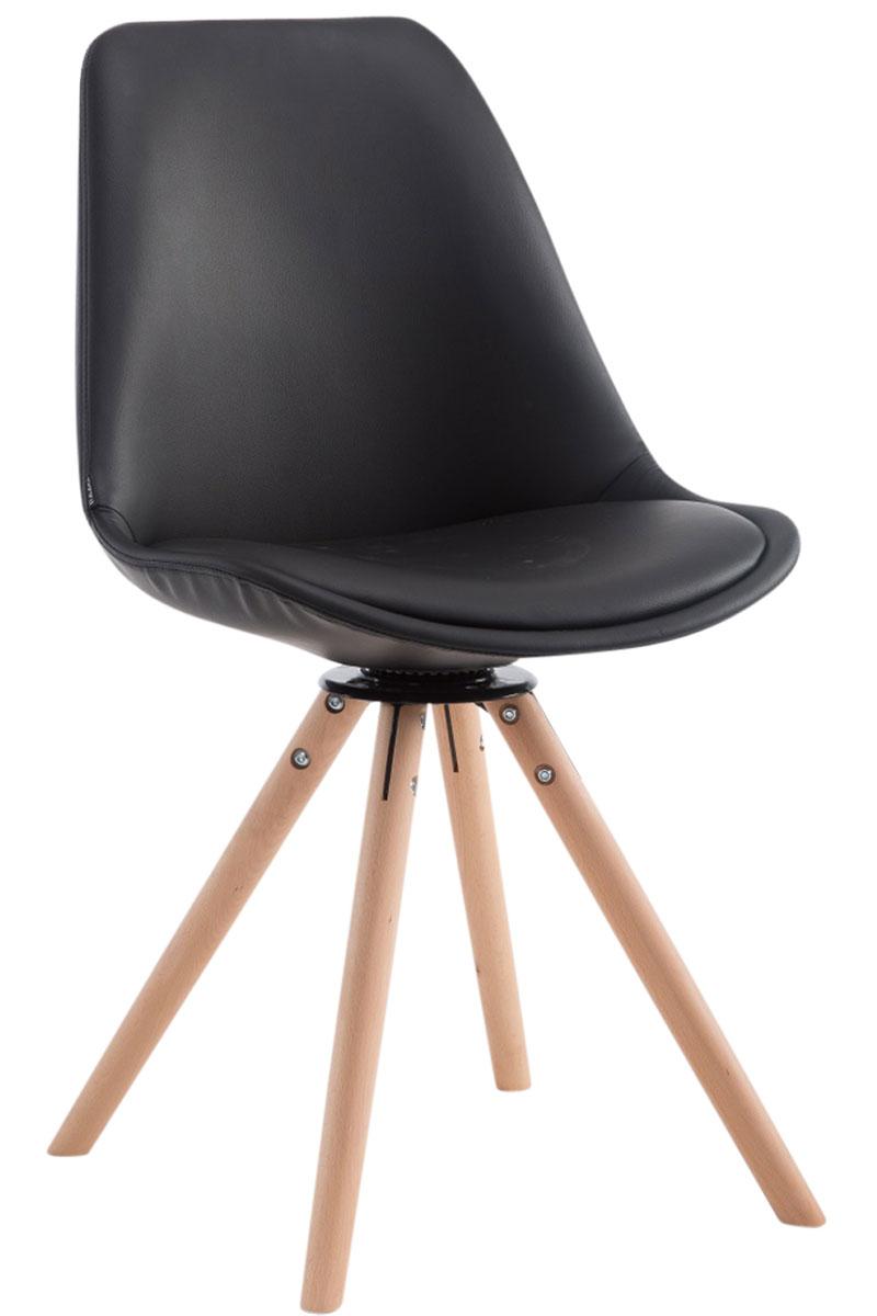 Besucherstuhl Calais Drehbar Rund-schwarz-Natura | Büro > Bürostühle und Sessel  > Besucherstühle | PAAL Office Furniture